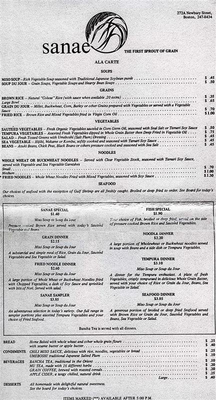 macrobiotic restaurant Boston